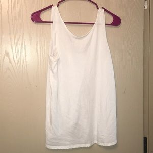 White Tank with Cute Back!